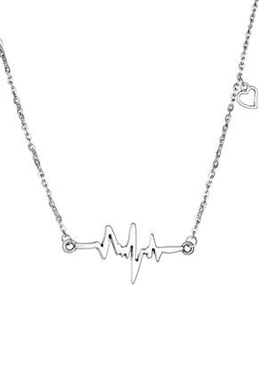 www.misstella.nl - Halsketting met hartslag 45-50cm