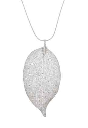 www.misstella.com - Necklace with pendant leaf 60cm