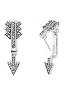 www.misstella.com - Metal ear jacket with strass arrow 28x9mm - J04664