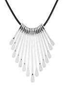 www.misstella.fr - Colliers en cordon ciré avec pendentifs en métal 43cm - J04696