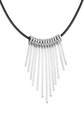 www.misstella.de - Wachsschnur Halskette mit Metallanhänger 43cm