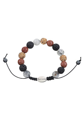 www.misstella.com - Natural stone bracelet with strass beads 16,5-24cm