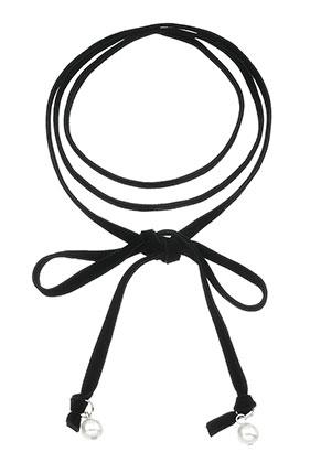www.misstella.nl - Wikkel/wrap choker met kunststof parels 130cm