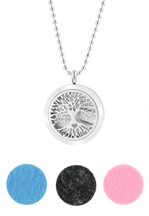 www.misstella.com - Stainless steel DoubleBeads EasySwitch perfume locket necklace set DQ 80cm