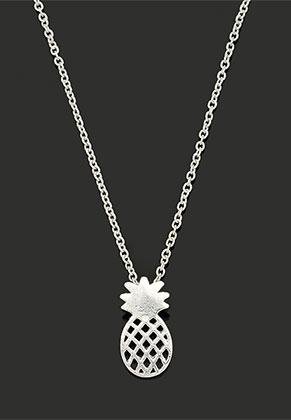 www.misstella.de - Halskette mit Anhänger Ananas 40-45cm
