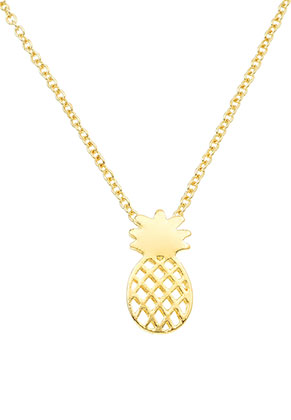 www.misstella.com - Necklace with pendant pineapple 40-45cm