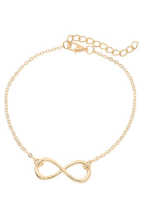 www.misstella.com - Bracelet/anklet with infinity sign 22-27cm