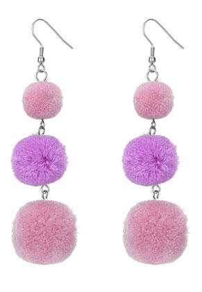 www.misstella.com - Bonbon earrings with pompoms 94x25mm