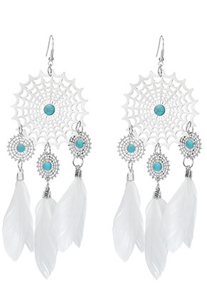 www.misstella.com - Dreamcatcher earrings 15x5cm