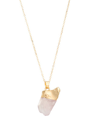 www.misstella.com - Necklace with natural stone pendant 50-55cm