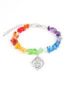 www.misstella.com - Natural stone bracelet Rainbow Chakra - J04942