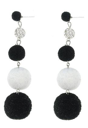 www.misstella.com - Bonbon earrings with pompoms 95x25mm