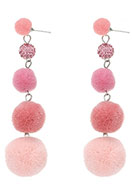 www.misstella.com - Bonbon earrings with pompoms 95x25mm - J05003