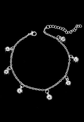 www.misstella.fr - Bracelet/bracelet de cheville avec cloches 21-25cm