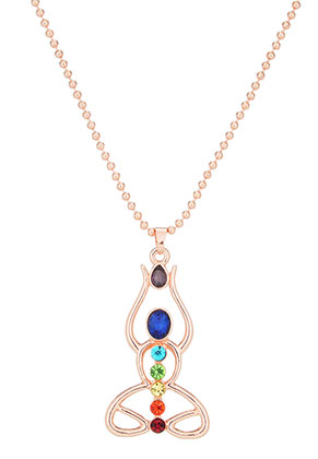 www.misstella.com - Necklace with pendant Chakra meditation 70cm