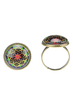www.misstella.com - Rings with mandala print >= Ø 18mm