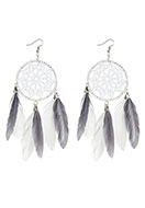 www.misstella.com - Dreamcatcher earrings 13x5cm - J05062