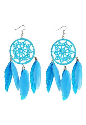 www.misstella.com - Dreamcatcher earrings 13x5cm