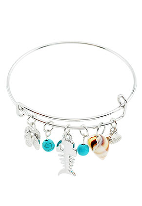 Wire Bracelets With Charms | Charm Bangle Wire Bracelet With Charms