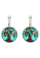 www.misstella.com - Metal snap earring with tree 30x18mm - J05162