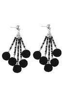 www.misstella.com - Earrings with pompoms 85x35mm - J05172