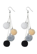www.misstella.com - Earrings with pompoms 95x25mm - J05201