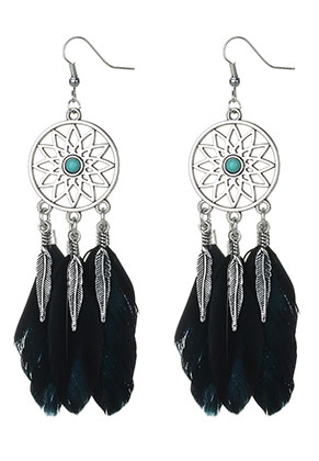 www.misstella.com - Dreamcatcher earrings 12x2,6cm