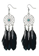 www.misstella.com - Dreamcatcher earrings 12x2,6cm - J05215
