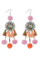 www.misstella.com - Earrings with tassels and pompoms 11,5x3cm - J05294