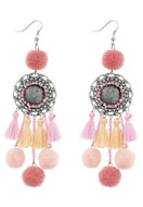 www.misstella.com - Earrings with tassels and pompoms 11,5x3cm - J05296