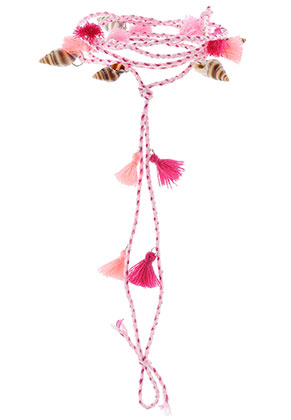 www.misstella.com - Anklet with shells and tassels