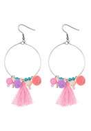 www.misstella.com - Earrings with tassels and pompoms 90x38mm - J05443