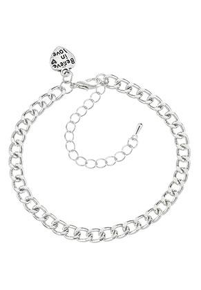www.misstella.nl - Metalen armband met bedel hartje 18-25x0,55cm