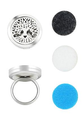 www.misstella.com - Stainless steel perfume locket ring set DQ Ø 16,5mm