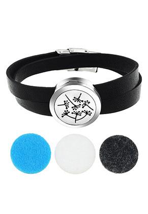 www.misstella.fr - Paquet de bracelet médaillon de parfum en cuir artificiel DQ 19cm