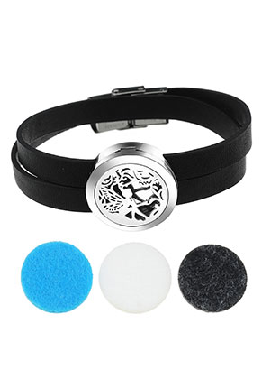 www.misstella.com - Imitation leather perfume locket bracelet set DQ 19cm