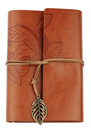 www.misstella.com - Notebook decorated with leaves
