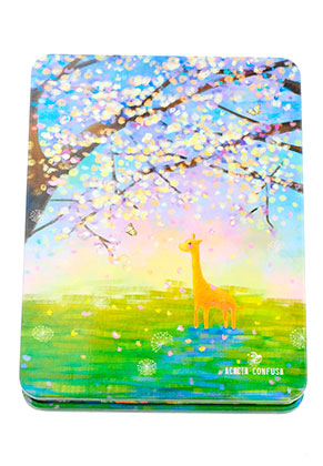 www.misstella.fr - Carnet de notes avec arbre et girafe 14,5x11cm