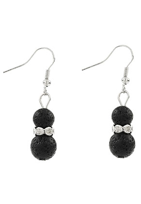 www.misstella.com - Natural stone earrings lava rock/Pelelith