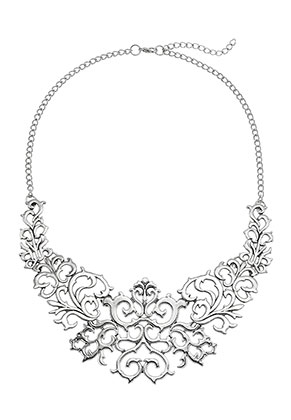 www.misstella.com - Metal necklace baroque style 45-49cm