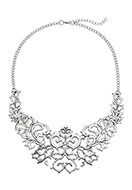 www.misstella.com - Metal necklace baroque style 45-49cm - J05758