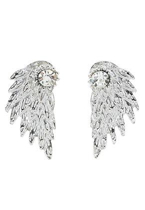 www.misstella.fr - Boucles d'oreille ear jacket en métal avec strass aile 30x15mm