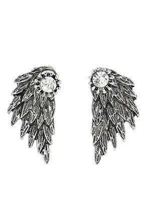 www.misstella.com - Metal ear jackets with strass wing 30x15mm