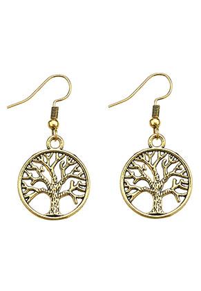 www.misstella.fr - Boucles d'oreilles en métal arbre 40x20mm