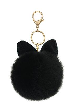 www.misstella.com - Key fob with fluff ball bunny 17x8cm