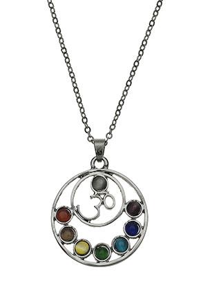 www.misstella.com - Necklace with Rainbow Chakra pendant 45-51cm