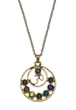 www.misstella.es - Collar con colgante Rainbow Chakra 45-51cm