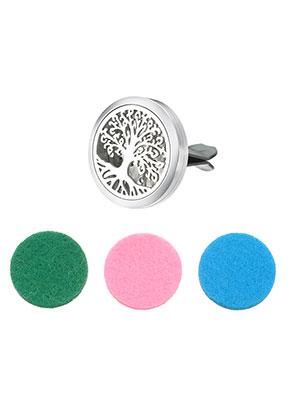 www.misstella.fr - Clip de diffuseur pour parfum de voiture en acier inoxydable 38x30mm