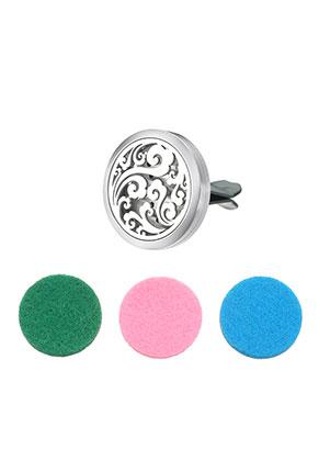 www.misstella.com - Stainless steel car perfume diffuser clip 38x30mm