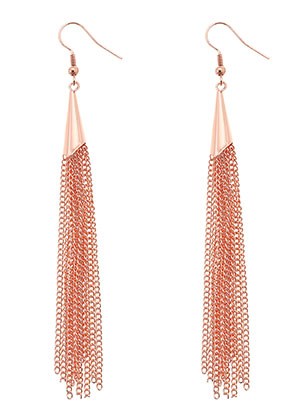 www.misstella.com - Brass earrings with tassel 11cm